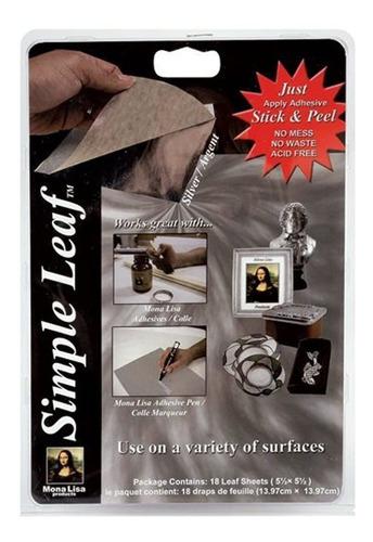 Imagen 1 de 5 de Mona Lisa Hojas De Metal Simples Hojas De 18 Colores Plata