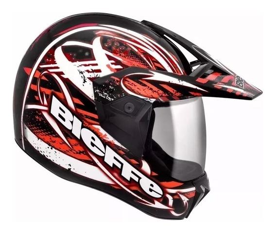 Capacete Moto Bieffe 3 Sport Reflex Cross Tilha Motoqueiro