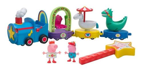 Peppa Pig Tren Mágico Desfile + 2 Figuras Original