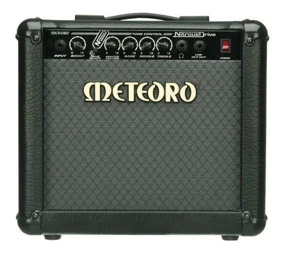 Amplificador Meteoro Nitrous Drive 15 15W transistor preto 110V/220V