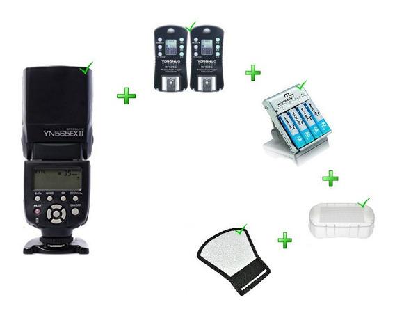 Flash Yn-565ex + Rebt + Difus + Rf-605 +cargad Para Nikon