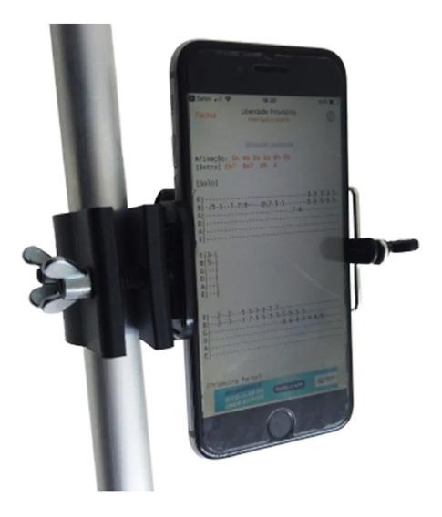 Suporte Celular Para Pedestal Microfone Violão Músico Cifras