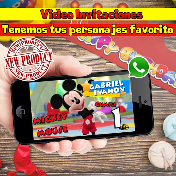 Video Invitacion De Mickey Mouse P4