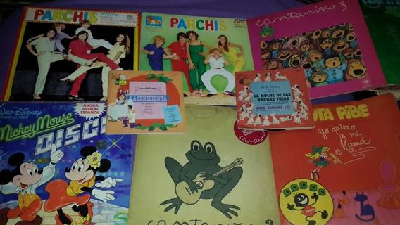 8 Vinilos Infantiles Parchis Cantaniño Disney Canta Pibe