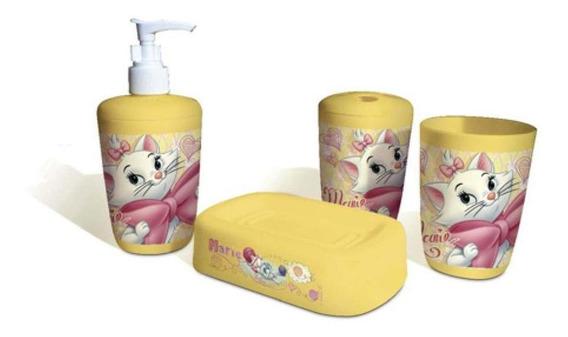 Kit Para Banheiro 4 Peças Gata Marie Gedex