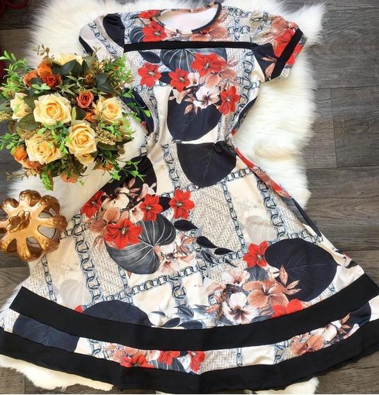 Vestido Midi Manga Rodado Gode Boneca Moda Evangelica Gospel
