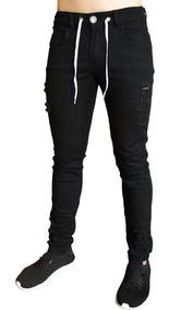 Calça Jeans Premium Masculina Rasgada Skinny Lycra Vcstilo