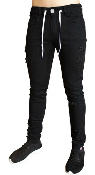 Calça Jeans Premium Masculina Rasgada Skinny Lycra J03