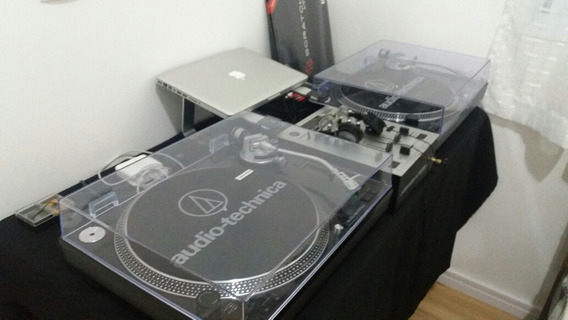 Toca Disco Áudio Technica At-lp120 Ñ É Technics Mk2 Plx