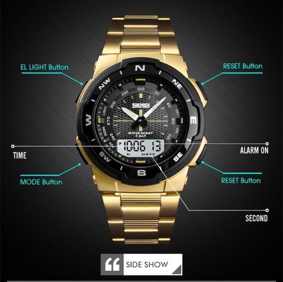 Relógio Luxo Skmei Digital E Analógico Original Prova D