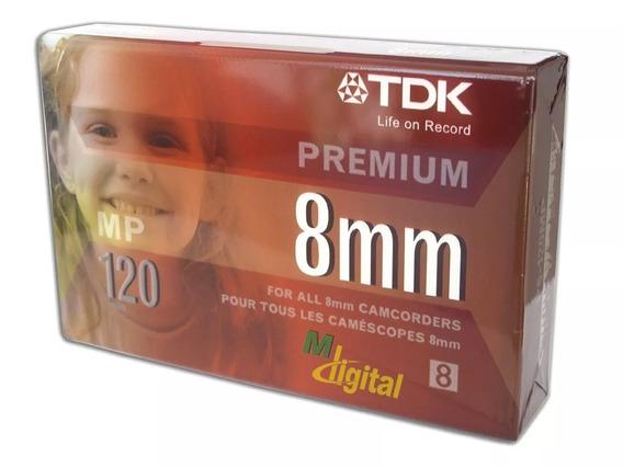 Fita Vídeo 8mm De 120 Minutos Premium Tdk Mp120 Original 2un