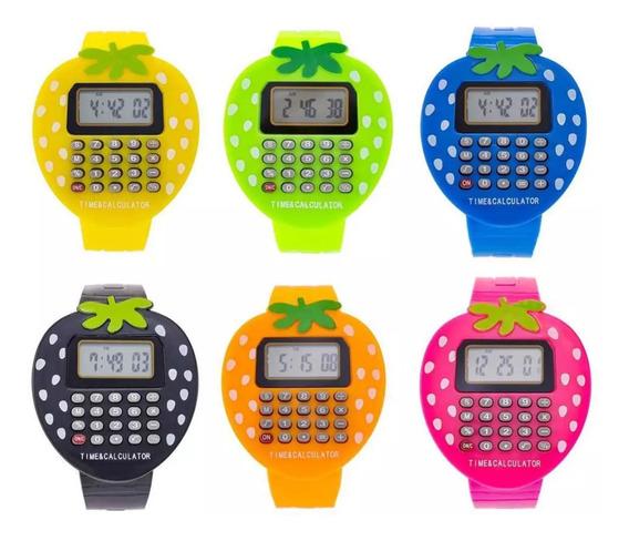 Relógio Calculadora Morango Pronta Entrega Oferta Qualidade