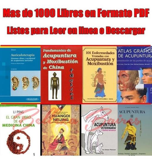 Mas De 1000 Libros En Formato Pdf, Acupuntura, Shiatsu,