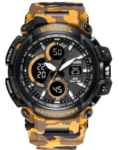 Relógio Masculino Smael 1708 Camuflado  Esportivo  Original