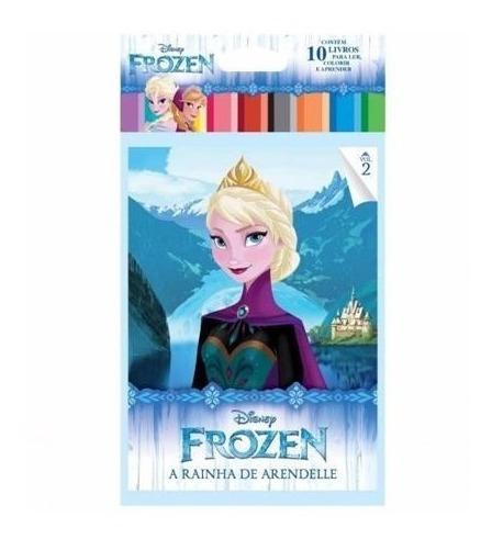 Imagem 1 de 4 de Kit Infantil Colorir E Aprender Disney 40 Livros - Promoção