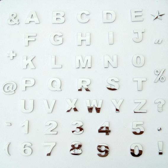 Letras Cromadas 12 Unid Cromados 3cm Fonte Arial , C,r