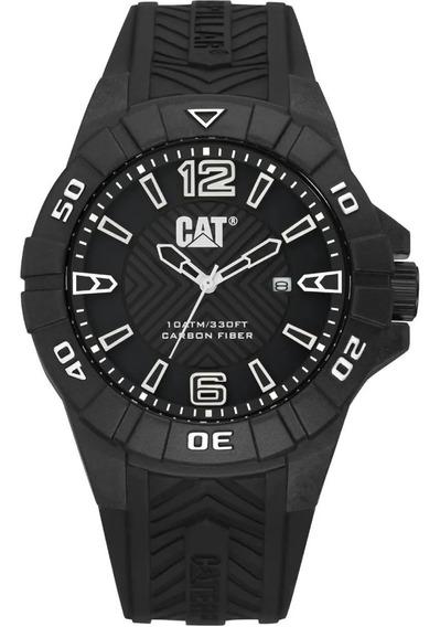 Reloj Cat Hombre K112121132 Fibra De Carbono Negro/blanco