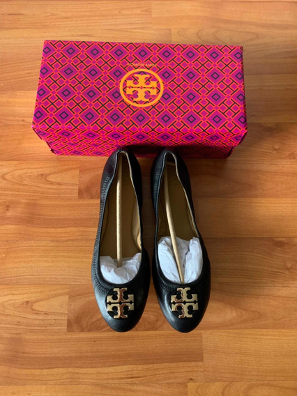 Flats Tory Burch Negros 100% Original 6 Mxn (9usa)