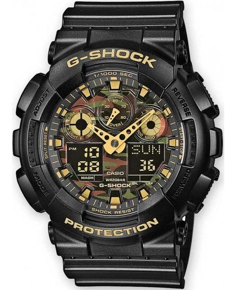 Relógio Casio G-shock Ga-100cf-1a9dr Camuflado Ga100 + Nfe