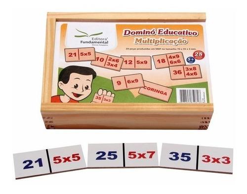 Jogo Dominó Multiplicação 28 Peças