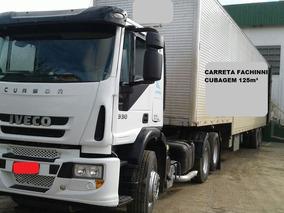 Conjunto Iveco 330 + Carreta Baú