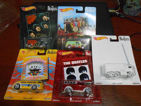 Set 5 Carros Hotwheels The Beatles Coleccion 2016 Om1
