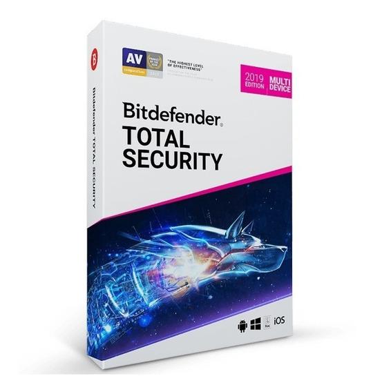 Bitdefender Total Security 2020- 5 Dispositivos, 1 Ano. Key