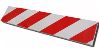 Protector De Goma P/ Pared Ideal Estacionamiento Rojo Blanco