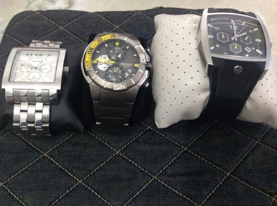 Relógio Orient , Diesel , Thecnus Quase Sem Uso