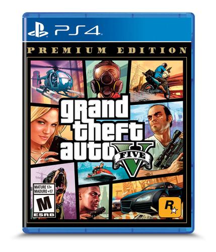 Imagen 1 de 2 de Gta V Grand Theft Auto 5 Premium Edition Formato Físico Ps4