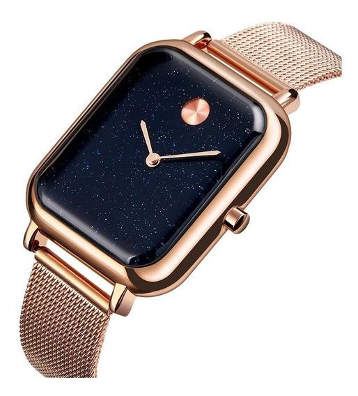 Relógio Feminino Rose Gold Mod. Céu Azul - Lançamento 2019