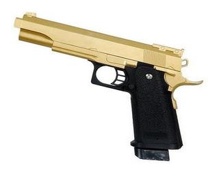 Pistola Air Soft Metal Srping G6 Muelle + Balines De Regalo