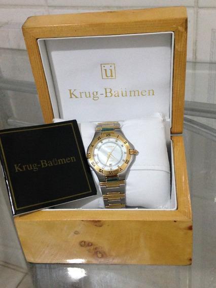 Relógio De Pulso Krug Baümen Passion Diamond Modelo 581120dm