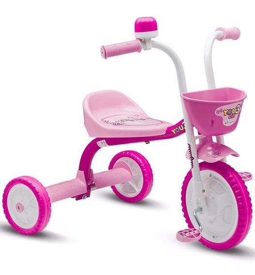 Triciclo Infantil Nathor 3 Girl 3 Rodas Menina Feminino