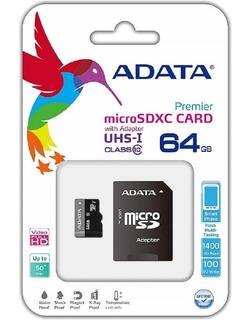 Memoria Adata Micro Sdxc/sdhc Uhs-i 64gb Clase 10 A1 100mb/2
