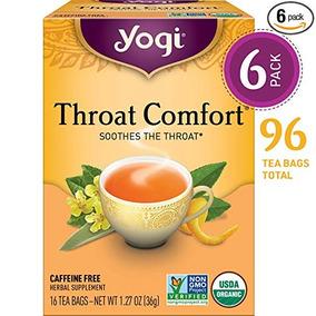 Yogi Tea - Garganta Confort - Alivia La Garganta - 6 Pack, 9
