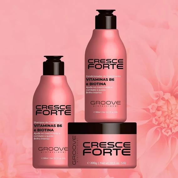 Kit Crescimento Groove Professional Cresce Forte 3 Produtos