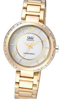 Reloj Q&q F531j004y Silver & Gold Strass Envio Gratis Watch Fan Locales Palermo Y Saavedra
