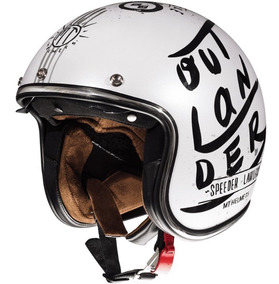 Casco Abierto Mt Sv Outlander Blanco Cafe Motos Miguel
