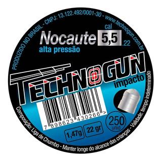 Chumbinho Technogun Nocaute 5,5mm - Master 250un