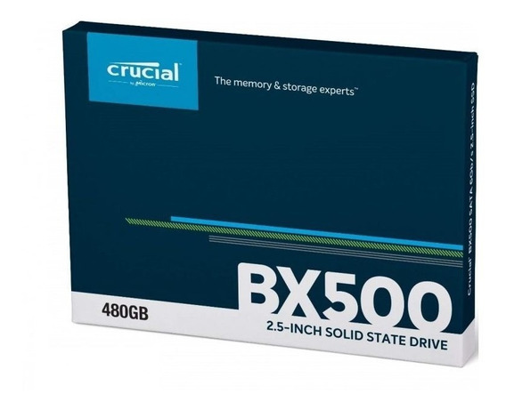 Hd Ssd Crucial Bx500 480gb - Bx 500 By Micron - 3d Nand Sata