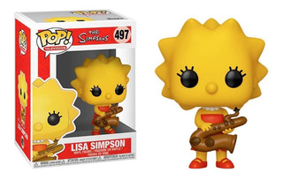 Funko Pop Lisa Simpson #497 The Simspons Saxofon Serie Tv