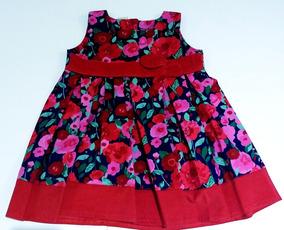bdb854dd1 Vestido De Corderoy Rojo Para Niña - Ropa y Accesorios en Mercado ...