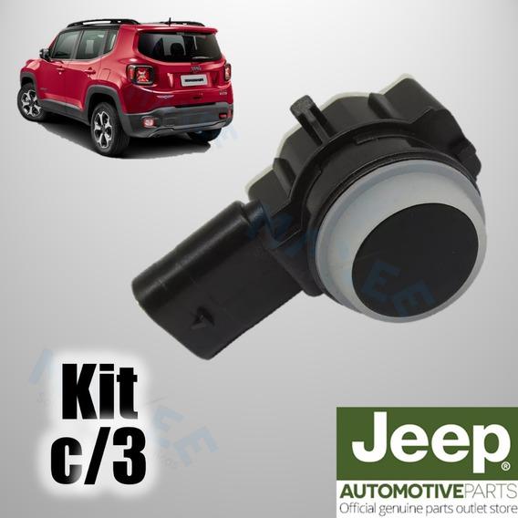 Kit Com 3 Sensor De Ré Estacionamento Jeep Renegade Compass