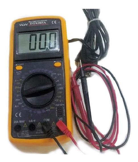 Multimetro Capacimetro& Teste De Barra De Leds C/ Bip Sonoro