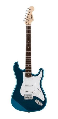 Imagen 1 de 4 de Guitarra eléctrica Leonard LE362 stratocaster de aliso metallic blue con diapasón de palo de rosa
