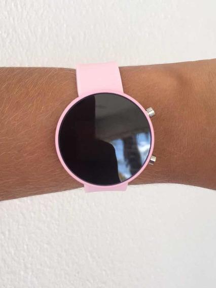 Relógio Rosa Led Top