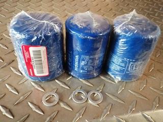 Paquete De 3 Filtros De Aceite Honda Genuinos
