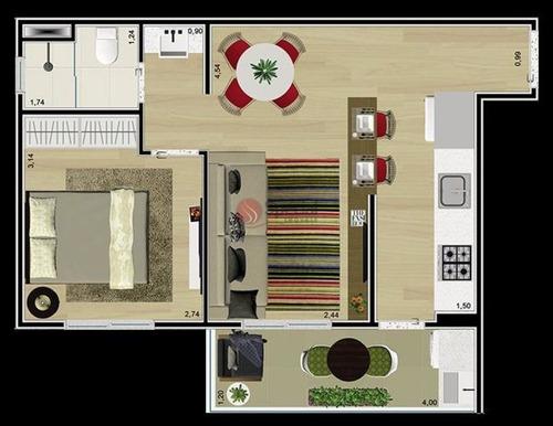 Apartamento À Venda, 36 M²- Anália Franco - São Paulo/sp - Ta4386