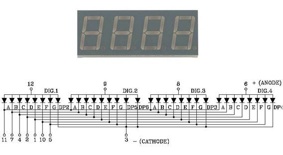 Display 7 Segmentos 4 Digitos Vermelho Arduino Pic Atmel